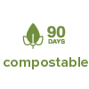 90 days compostable
