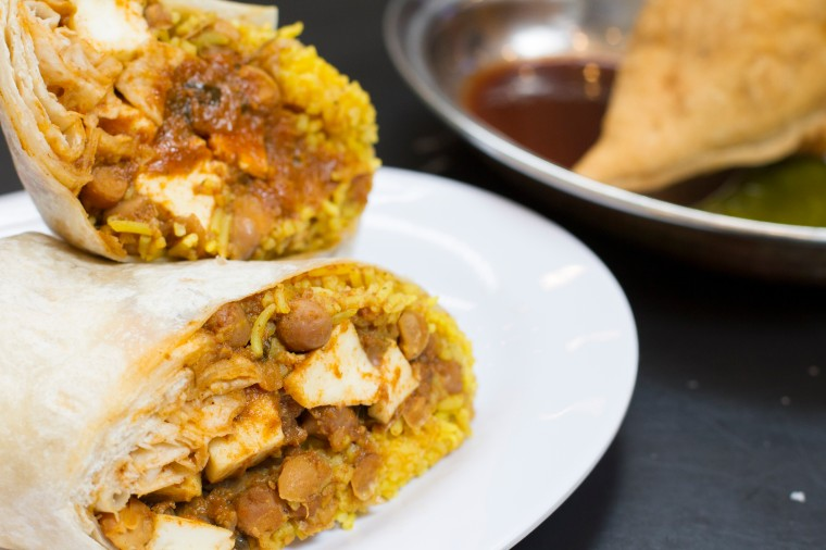 Curry Up Now Paneer TM Burrito