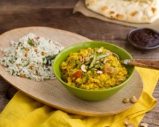 """The dal, naan and rice are delicious!"" -June O."