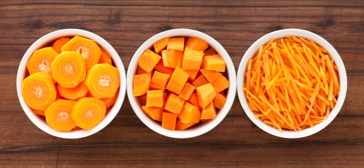 Carrot in bowls